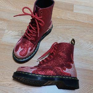 Flame glitter Dr. Martens boots